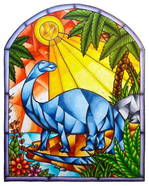Brontosaurus-Stained_Glass