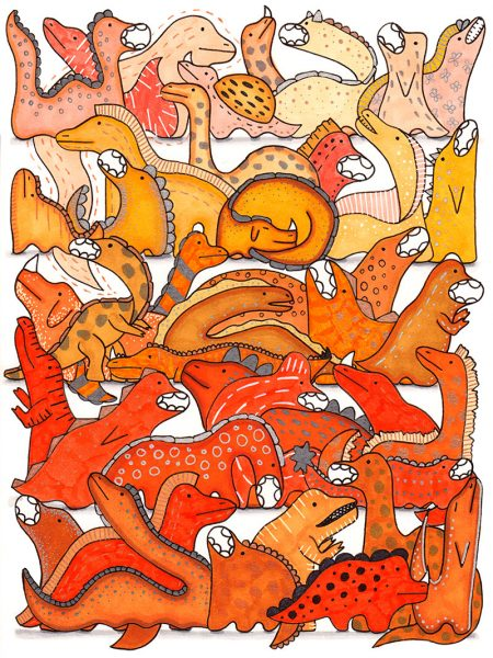 Orange-Dino-Gradient