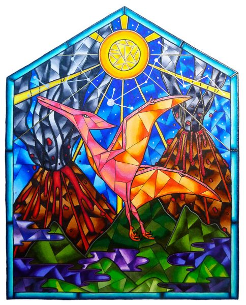 Pterodactyl-Stained-Glass