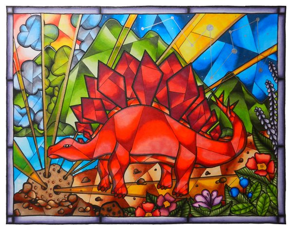 Stegosaurus-Stained-Glass