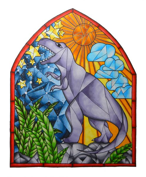 TRex-Stained-Glass